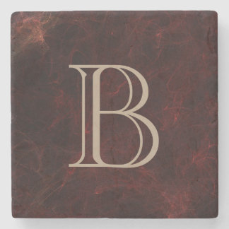 Personalized Smoke and Fire Abstract Design Stone Coaster