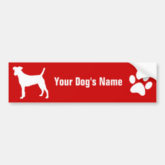 Personalized Smooth Fox Terrier スムース・フォックス・テリア Bumper Sticker