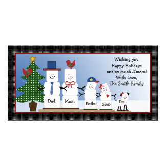 Personalized Smores Family Christmas Card S'mores