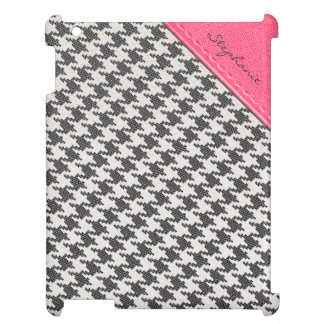 Personalized Snakeskin Houndstooth iPad Cover