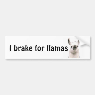 Personalized Snooty Snobby Llama Bumper Sticker