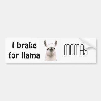 Personalized Snooty Snobby Llama Car Bumper Sticker
