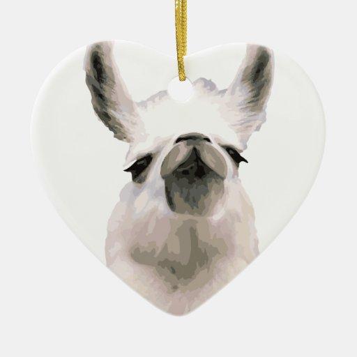 Personalized Snooty Snobby Llama Ceramic Ornament
