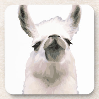 Personalized Snooty Snobby Llama Beverage Coasters