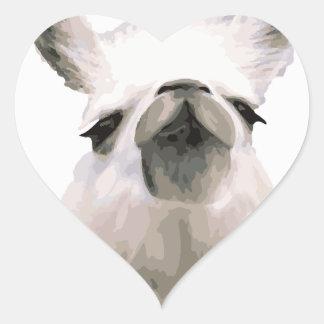 Personalized Snooty Snobby Llama Heart Sticker
