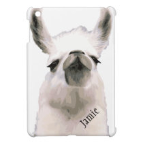 Personalized Snooty Snobby Llama iPad Mini Cases