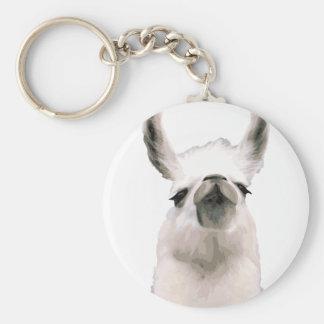 Personalized Snooty Snobby Llama Keychain