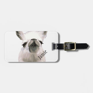 Personalized Snooty Snobby Llama Tag For Bags