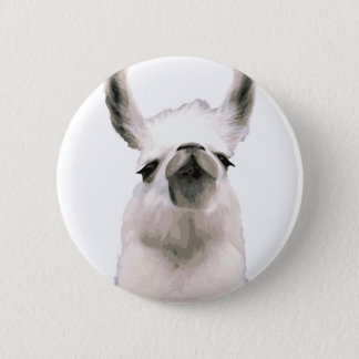 Personalized Snooty Snobby Llama Pinback Button