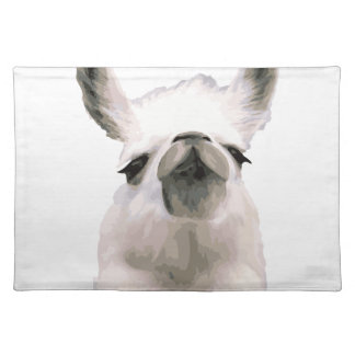 Personalized Snooty Snobby Llama Placemat