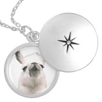 Personalized Snooty Snobby Llama Silver Plated Necklace