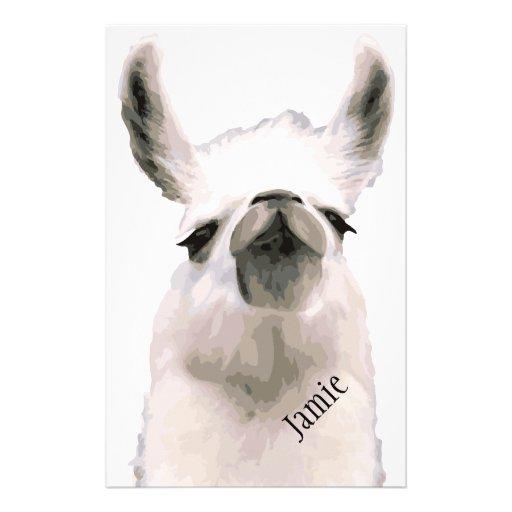 Personalized Snooty Snobby Llama Stationery