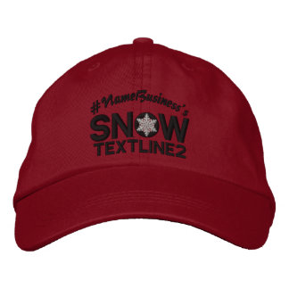 Personalized Snow Embroidered Black And White Embroidered Baseball Hat