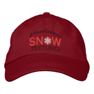 Personalized Snow Embroidered Lovers Red Embroidered Hat