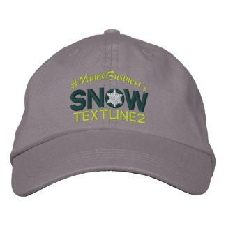 Personalized Snow Embroidery Snowflake Embroidered Embroidered Baseball Hat