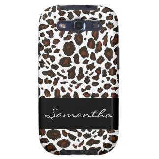 Personalized Snow Leopard Pattern Samsung Galaxy S3 Case