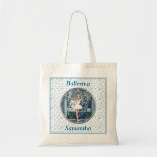 Personalized Snow Princess Ballerina Tote Bag