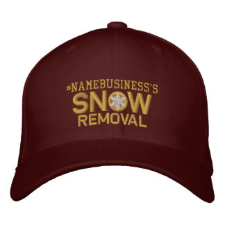 Personalized Snow Removal Golden Snowflake Embroidered Baseball Cap