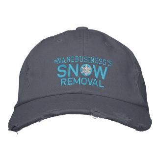 Personalized Snow Removal Snowflake Baby Blue Cap