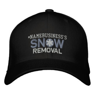 Personalized Snow Removal Snowflake Design Baseball Cap