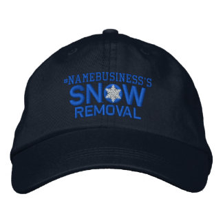 Personalized Snow Removal Snowflake in Blue Embroidered Baseball Hat
