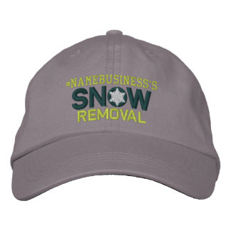 Personalized Snow Removal Snowflakes Embroidered Embroidered Hat