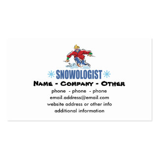 Personalized Snow Skiing Double-Sided Standard Business Cards (Pack Of 100)