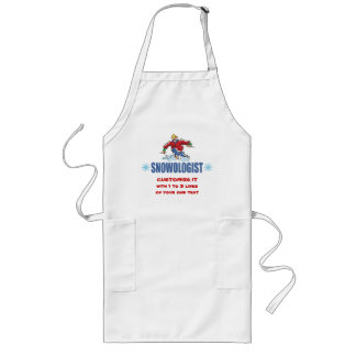 Personalized Snow Skiing Long Apron