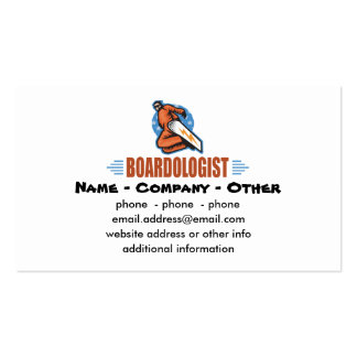 Personalized Snowboarding Business Card