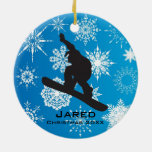 Personalized Snowboarding Ornament