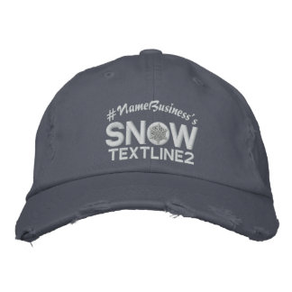 Personalized Snowflake 2 lines Embroidery Embroidered Baseball Hat