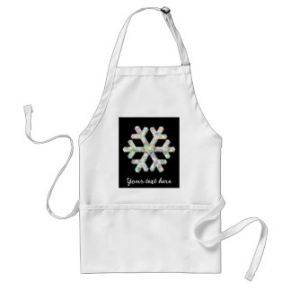 Personalized Snowflake And Love Heart Adult Apron