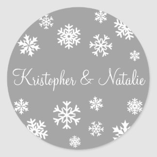 Personalized Snowflakes Envelope Sticker Seal