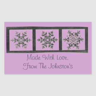 Personalized Snowflakes Favorite Candy or Baked Go Rectangular Sticker