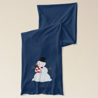 Personalized: Snowman and Snowflakes Scarf