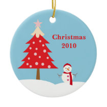 Personalized Snowman Christmas Ornament