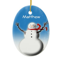 Personalized Snowman Christmas Tree Decoration