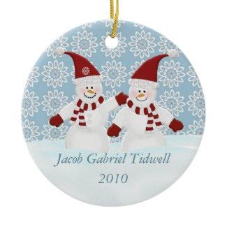 Personalized Snowman Ornament ornament
