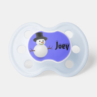 Personalized Snowman Pacifier Baby Pacifier