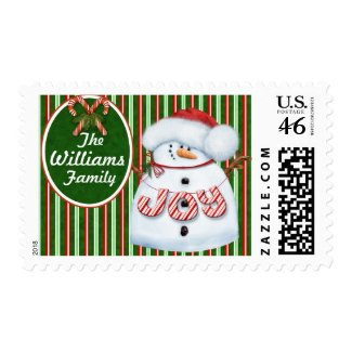 Personalized Snowman Postage