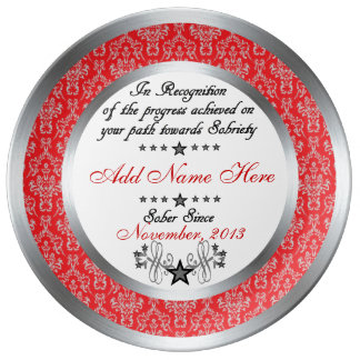 Personalized Sobriety Recognition & Award Plate Porcelain Plates