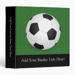 Personalized Soccer Ball 3 Ring Binder