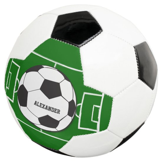 Personalized Soccer Ball and Field