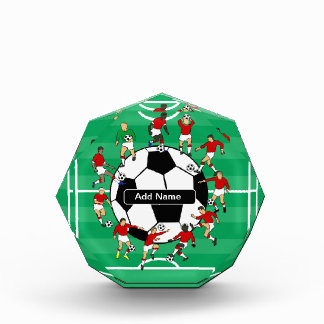Personalized soccer ball and players awards