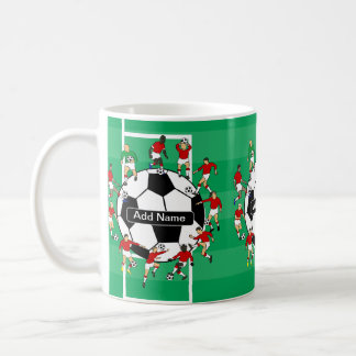 Personalized soccer ball and players coffee mug