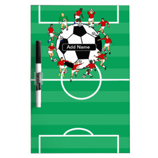 Personalized soccer ball and players Dry-Erase whiteboards