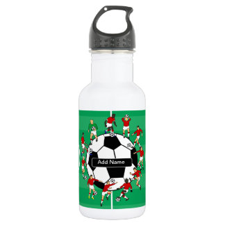Personalized soccer ball and players water bottle