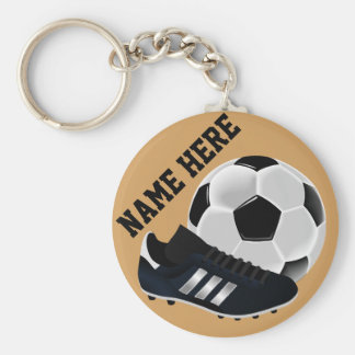 Personalized Soccer Ball and shoe Gifts Keychain