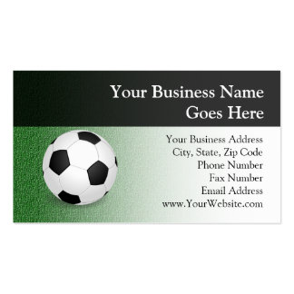 Personalized Soccer Ball Business Card Templates