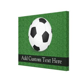 Personalized Soccer Ball Canvas Print